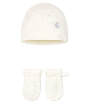 Komplet dziecięcy- czapka z rękawiczkami