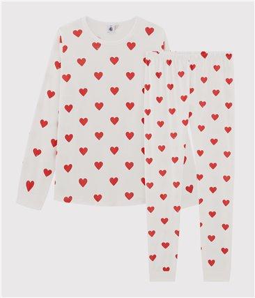 Piżama w serca z bawełny ekologicznej