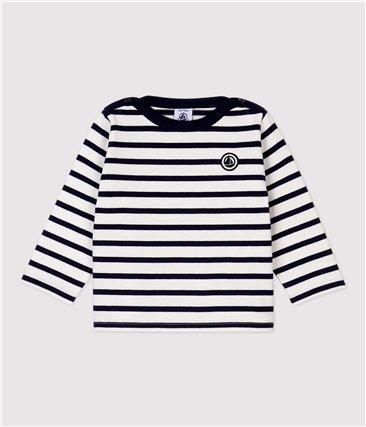 Marynarska bluzka niemowlęca z bawełny